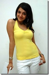 Kajal Agarwal in yellow dress