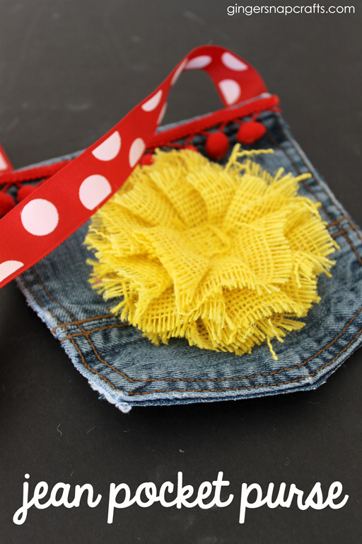 jean pocket purse at GingerSnapCrafts.com #upcycle #kidcraft