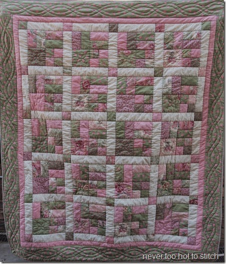 Kerrie's quilt 2 faded colours