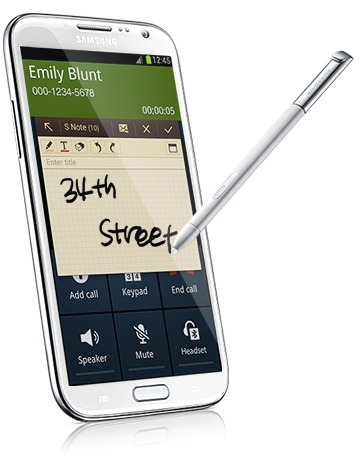 Samsung Galaxy Note 2-Popup Note