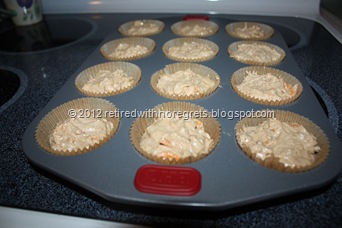 Sweet Potato Muffins- ready for oven