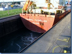 5226 Michigan - Sault Sainte Marie, MI - Soo Locks  - freighter Federal Patroller inside MacArthur Lock