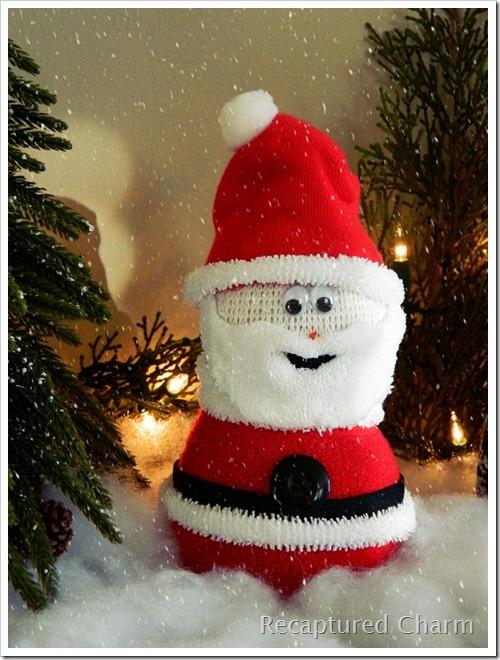 Sock Snowman Sock Santa 013b