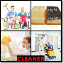 CLEANER- 4 Pics 1 Word Answers 3 Letters