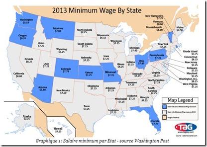 États-Unis salaire minimum