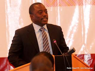 Le président Joseph Kabila, donnant le coup d'envoi de la reunion des Finances et des gouverneurs africains auprès de la Banque Mondiale et du fonds monétaire International ce 3/08/2011 à Kinshasa. Radio Okapi/ Ph. John Bompengo