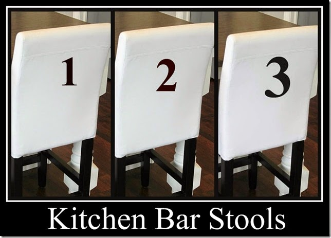Ribbet collage numbered barstools 123