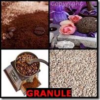 GRANULE- 4 Pics 1 Word Answers 3 Letters