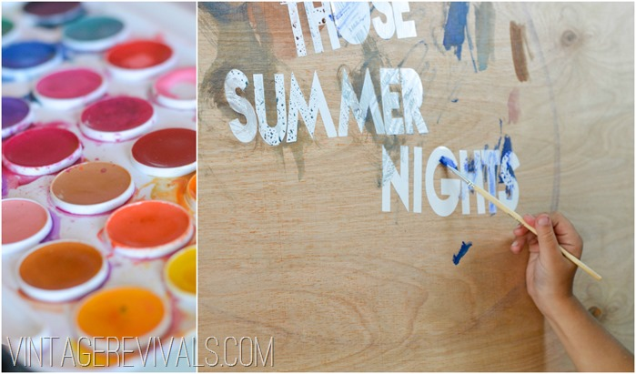 Kids Summer Painting Project