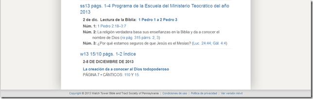Jw Org Escuela Del Ministerio Teocratico Con Referencias 2013