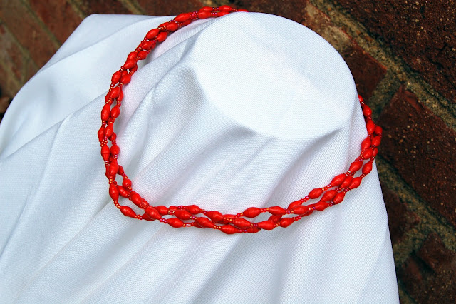 3-Strand Paper Bead Necklace