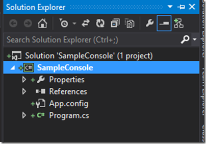 solution-console-git-visual-studio-bit-bucket