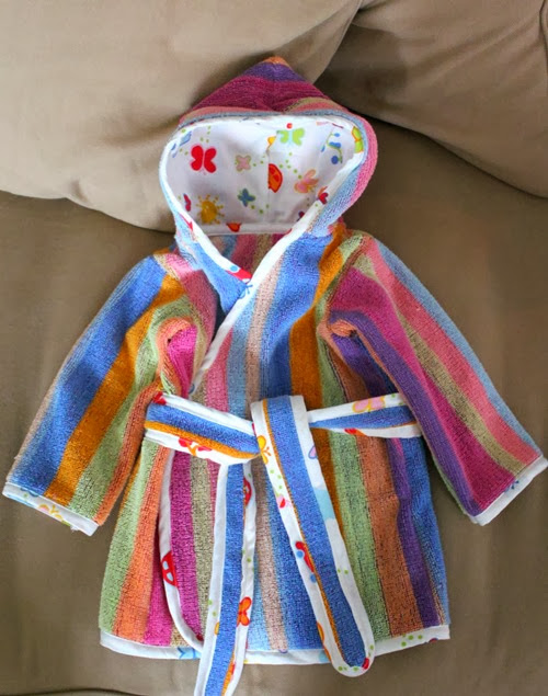 girls beach robe