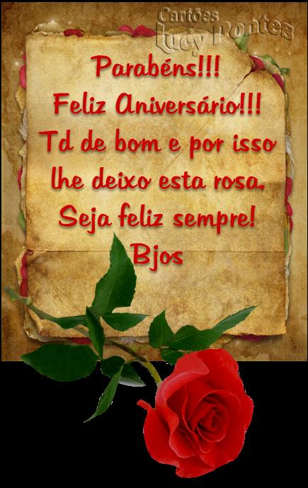 Parabéns feliz aniversário Tudo de bom
