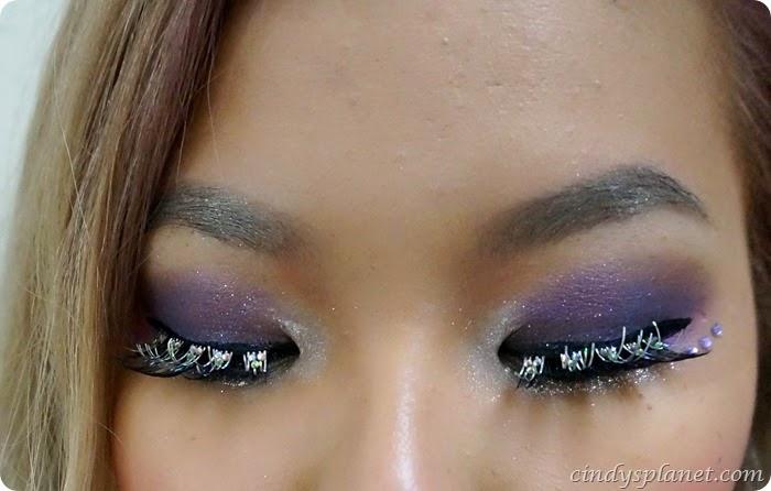 christmas sparkle eye look1