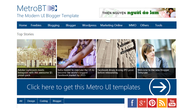 Metro BTK – The Metro UI style Blogger Template