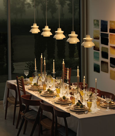 The Astron pendent is a fun mid century modern fixture.  I looks great on its own but even better in multiples.  It also comes in eight great colors.