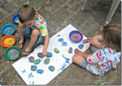 painting garden rocks