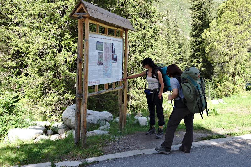 Intrarea in parcul national Ala-Archa.