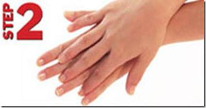 Langkah 2/7 langkah hygiene mencuci tangan