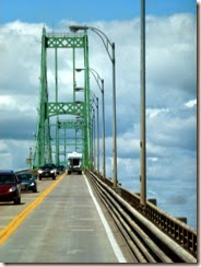 Driving up the Thousand Islands Bridge
