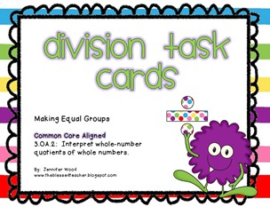 Division-grouping task cards