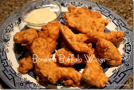 recipe for Boneless Buffalo Wings