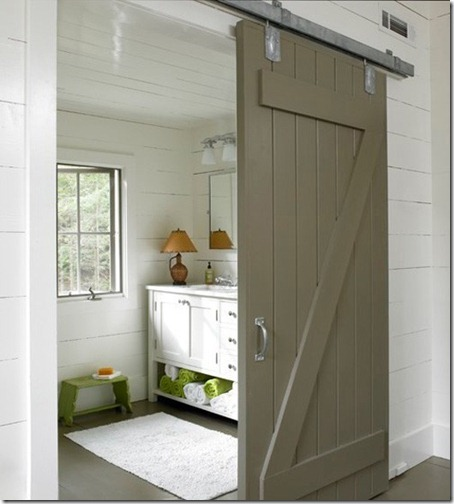 taupe barn door via pinterest