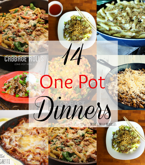 One Pot Dinners that will leave your belly full and your sink empty!