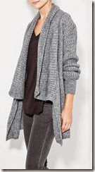 Mango Wool Blend Draped Cardigan