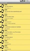 Screenshot of Song List [T8]