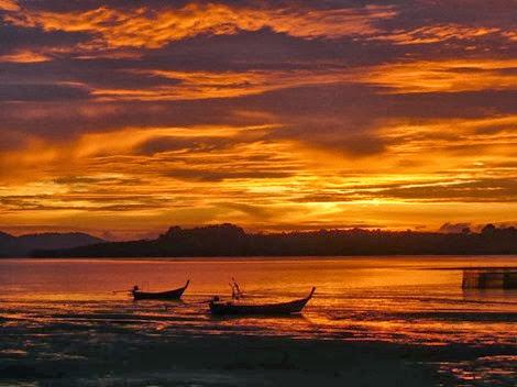 Sunset at KYN Muay Thai Gym