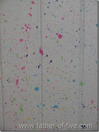 Spatter painted aquarium stand