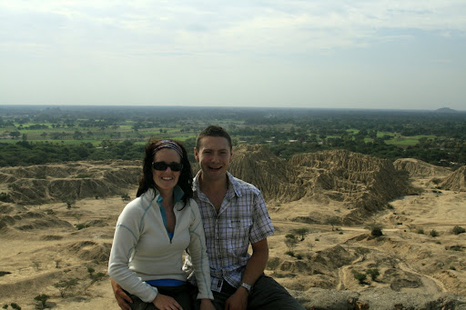 Our smiling faces overlooking the Tucume ruins.