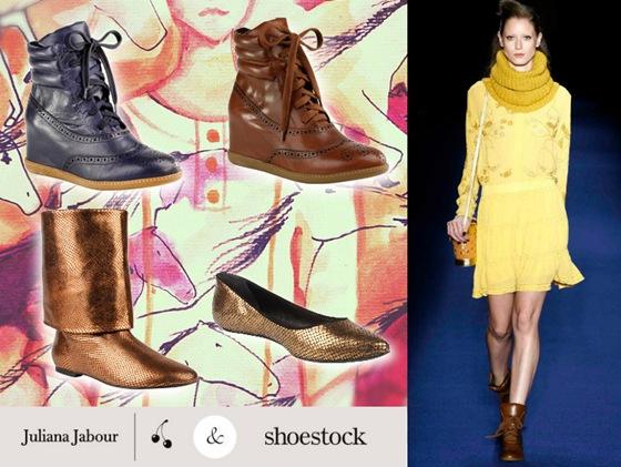 Juliana Jabour e Shoestock repetem a parceria para o Inverno 2012.