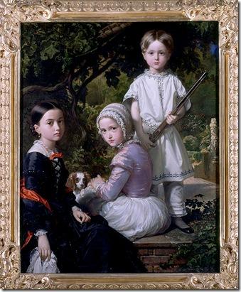 Federico de Madrazo- Luisa  Rosa y Raimundo  hijos del pintor  (1845).
