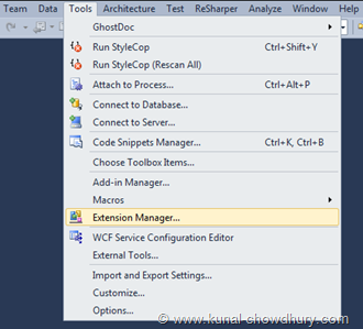 Open Tools - Extension Manager