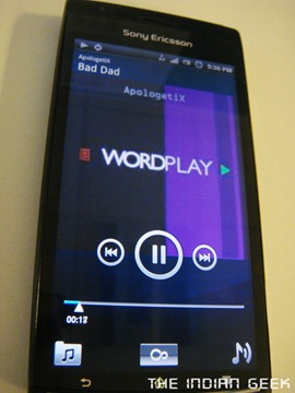 Sony Ericsson Xperia Arc - Music player