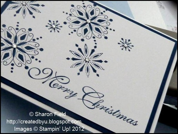 low profile, rhinestone bling on cas christmas card.