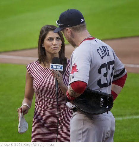 'Jenny Dell NESN On-Field Reporter' photo (c) 2013, Keith Allison - license: http://creativecommons.org/licenses/by-sa/2.0/