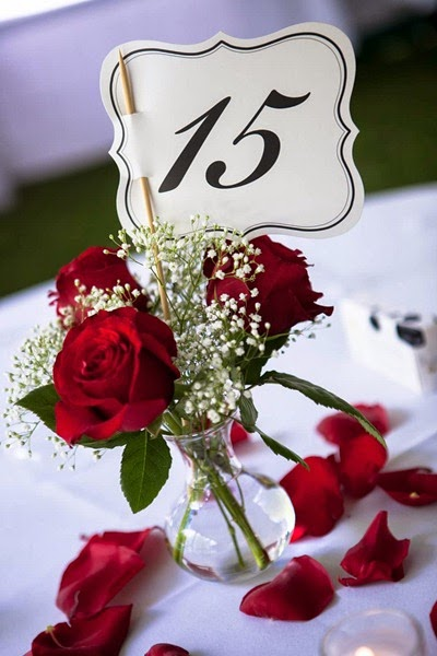 Red Rose Wedding Flowers 34