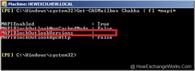 MAPI Block Outlook Version