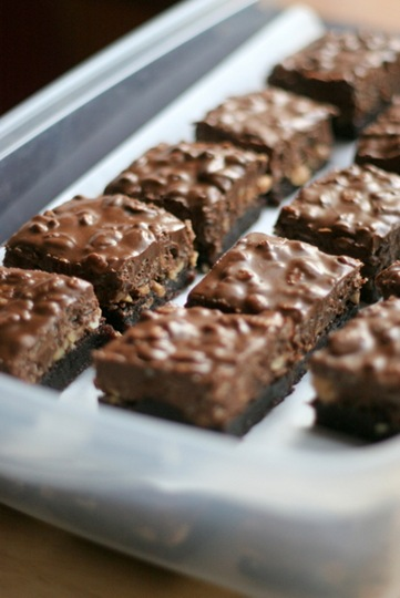 choco peanut butter crunch bars