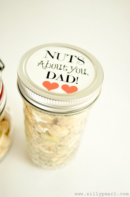 Nuts About You Dad Mason Jar Printable - The Silly Pearl