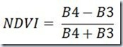 NDVI Ecuacion