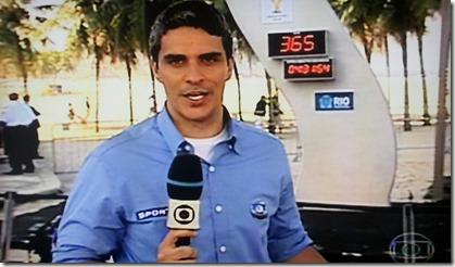 Relógio da copa na Globo