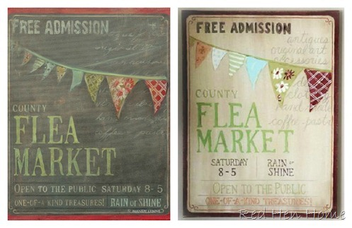 flea market collage