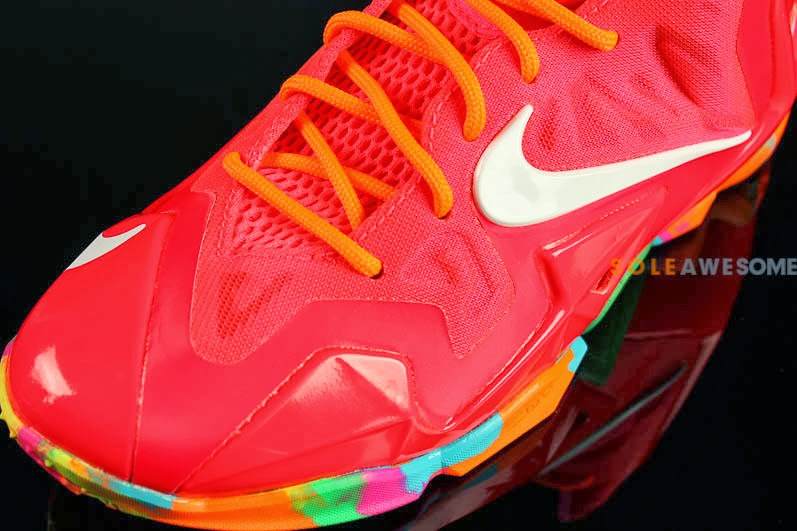 c54a30ba42655 Another Look at 8220Fruity Pebbles8221 LeBron 11 GS 621712600 ...