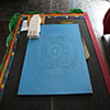 Tibetan Mandala preparation, Woodford Folk Festival
