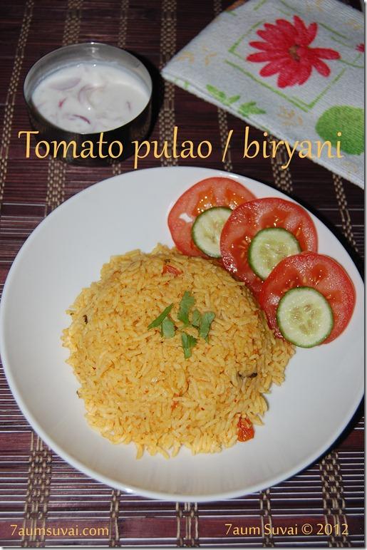 Tomato pulao / biryani